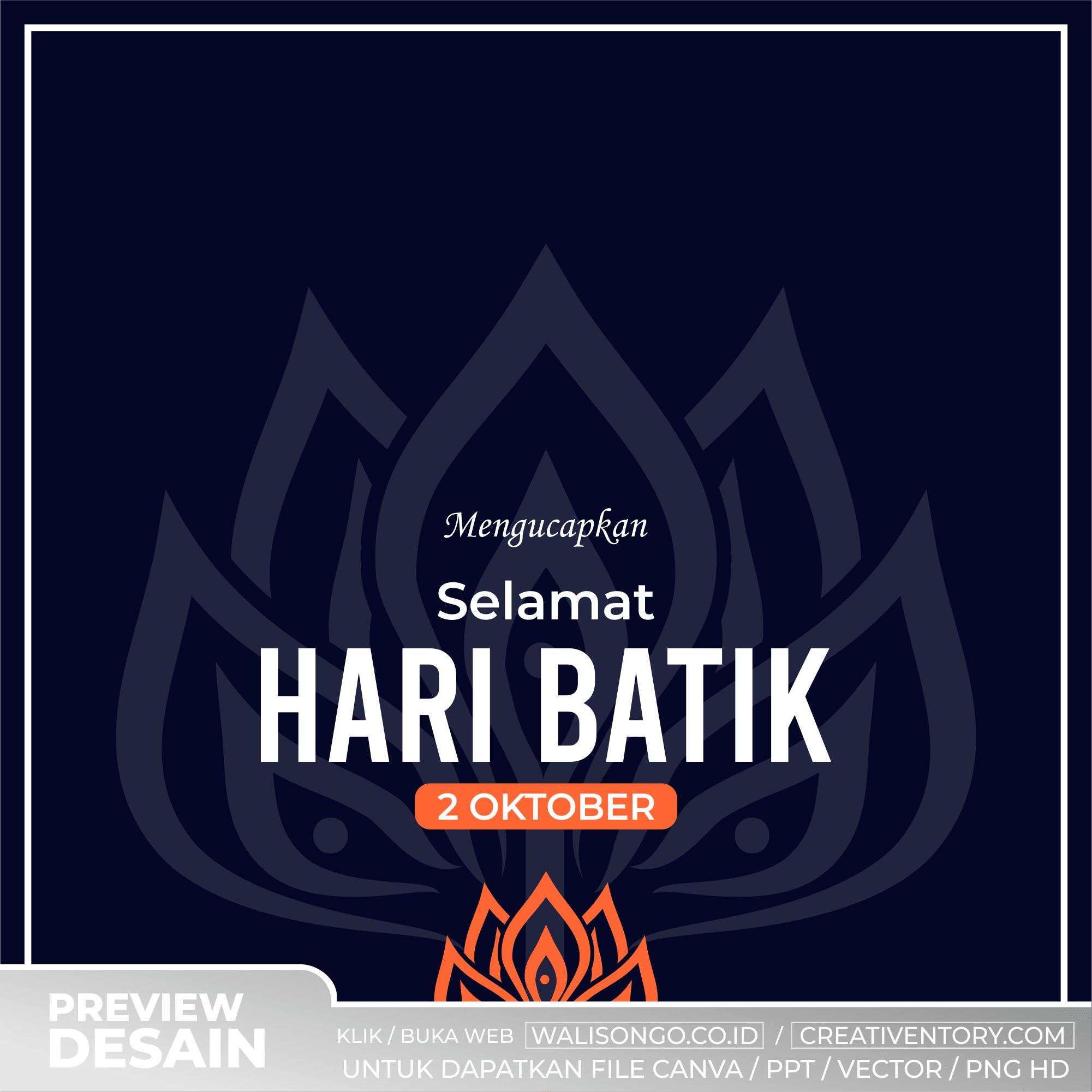 Desain Background Hari Batik Elegan