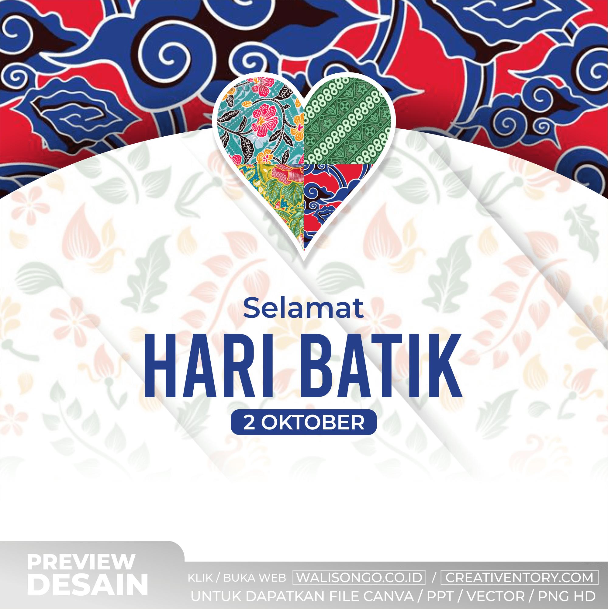 Desain Hari Batik Nasional Elegan Keren