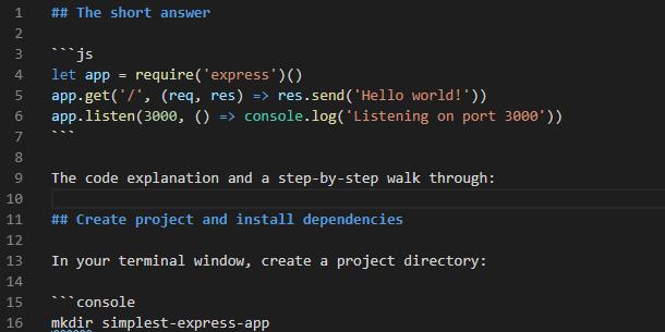 express, app, node