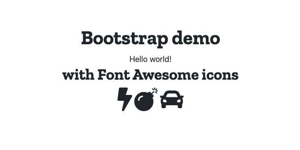 fontawesome, bootstrap, express