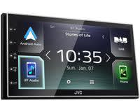 Autoradio met scherm dubbel DIN JVC KWM745DBT Aansluiting voor stuurbediening, Aansluiting voor achteruitrijcamera