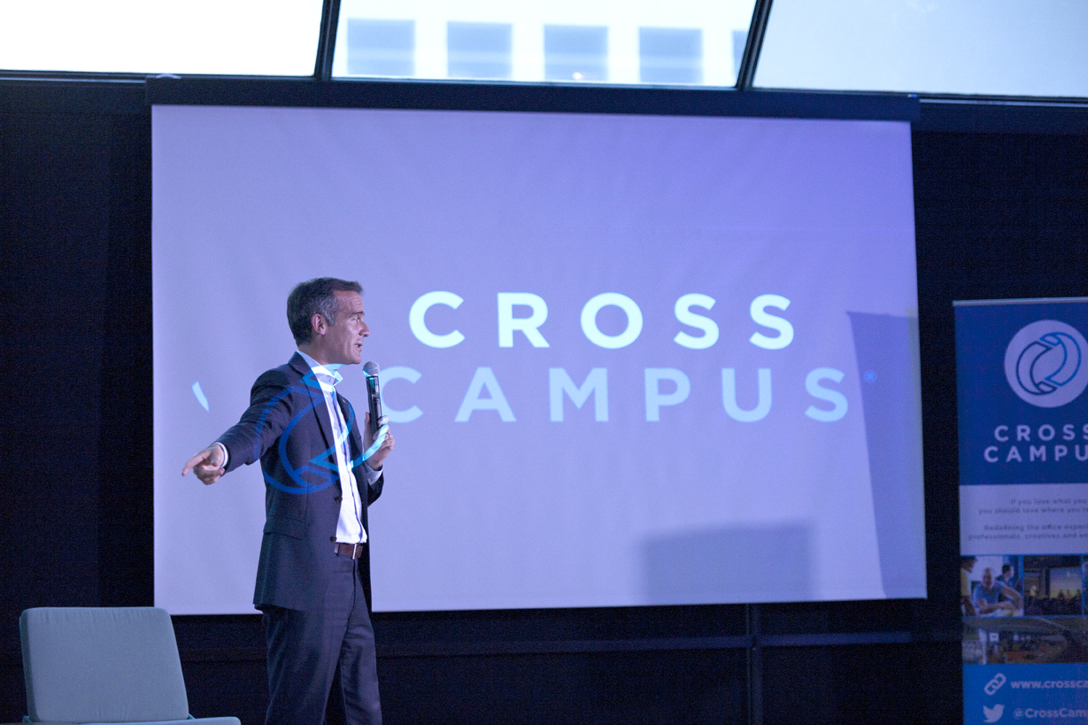 cross campus coworking time management tips successful professionals productivity mayor los angeles eric garcetti