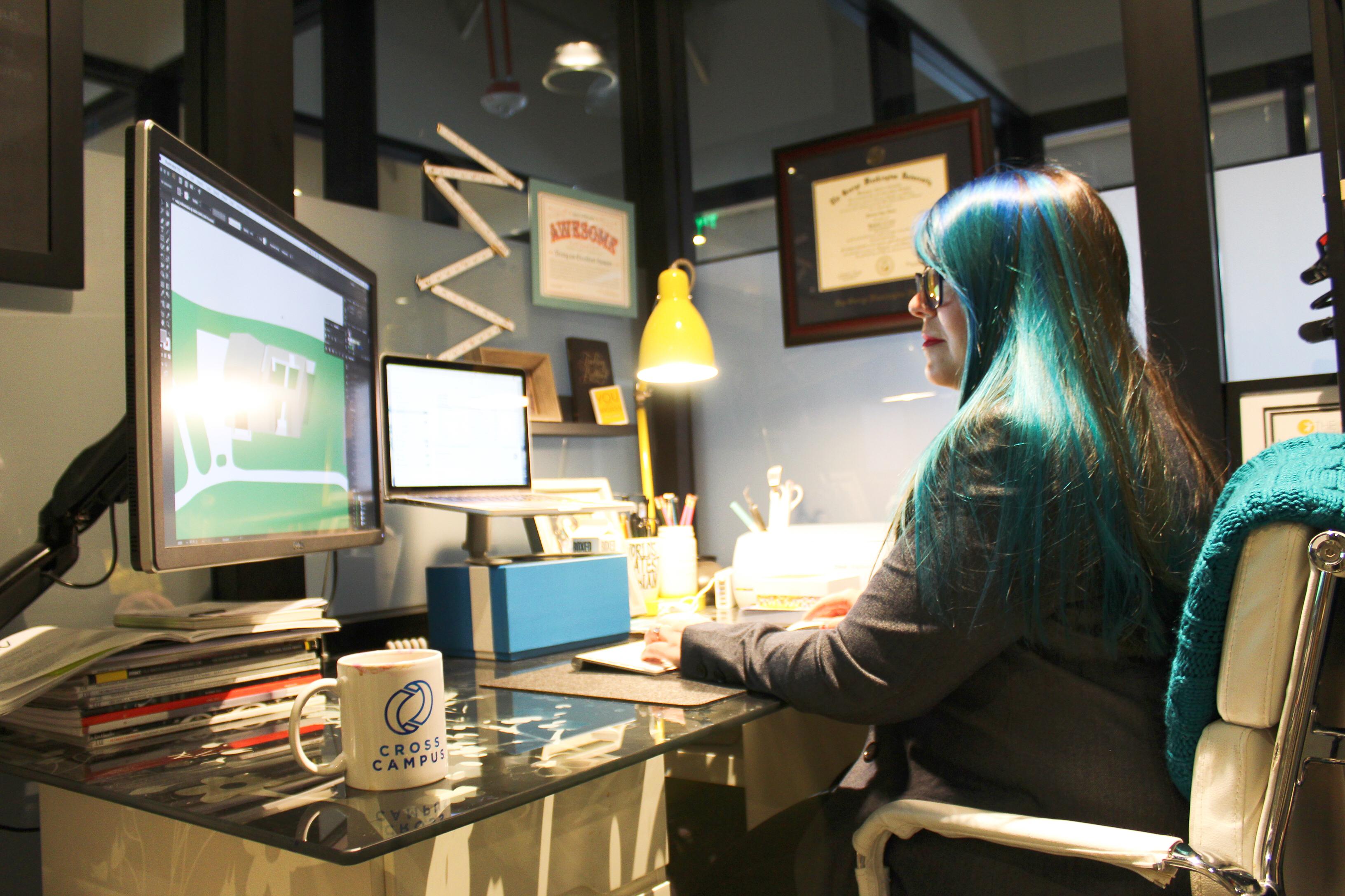 creative fish studio jessica accamando cross campus south bay el segundo coworking space member spotlight