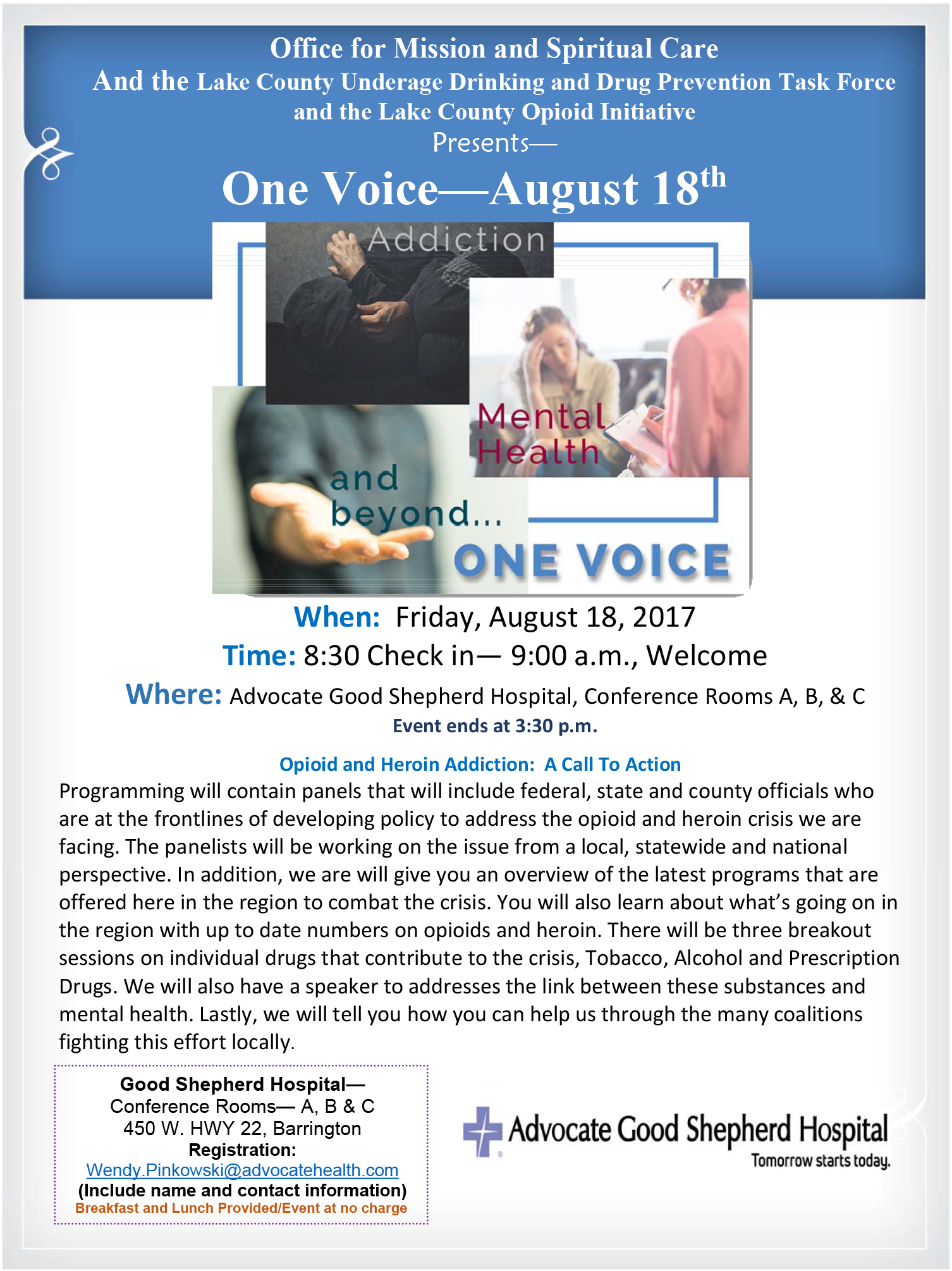 One voice  august 18 2017 ro5soc