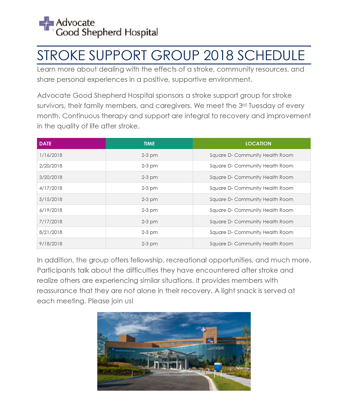 Supportgroupschedule cppftu