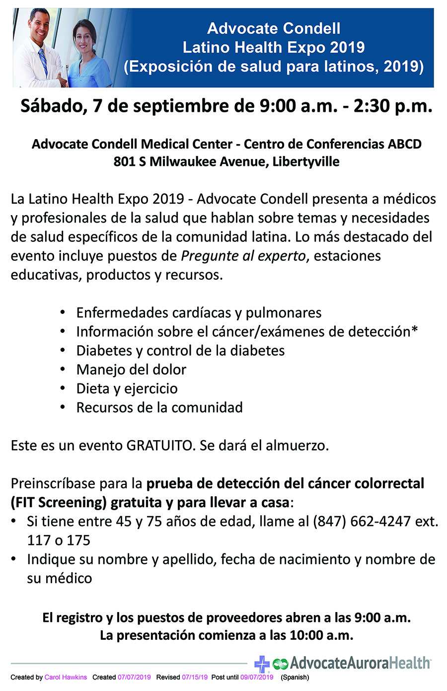 2019 aah systemwide diverse multicultural flyer lhe flyer spanish noftge