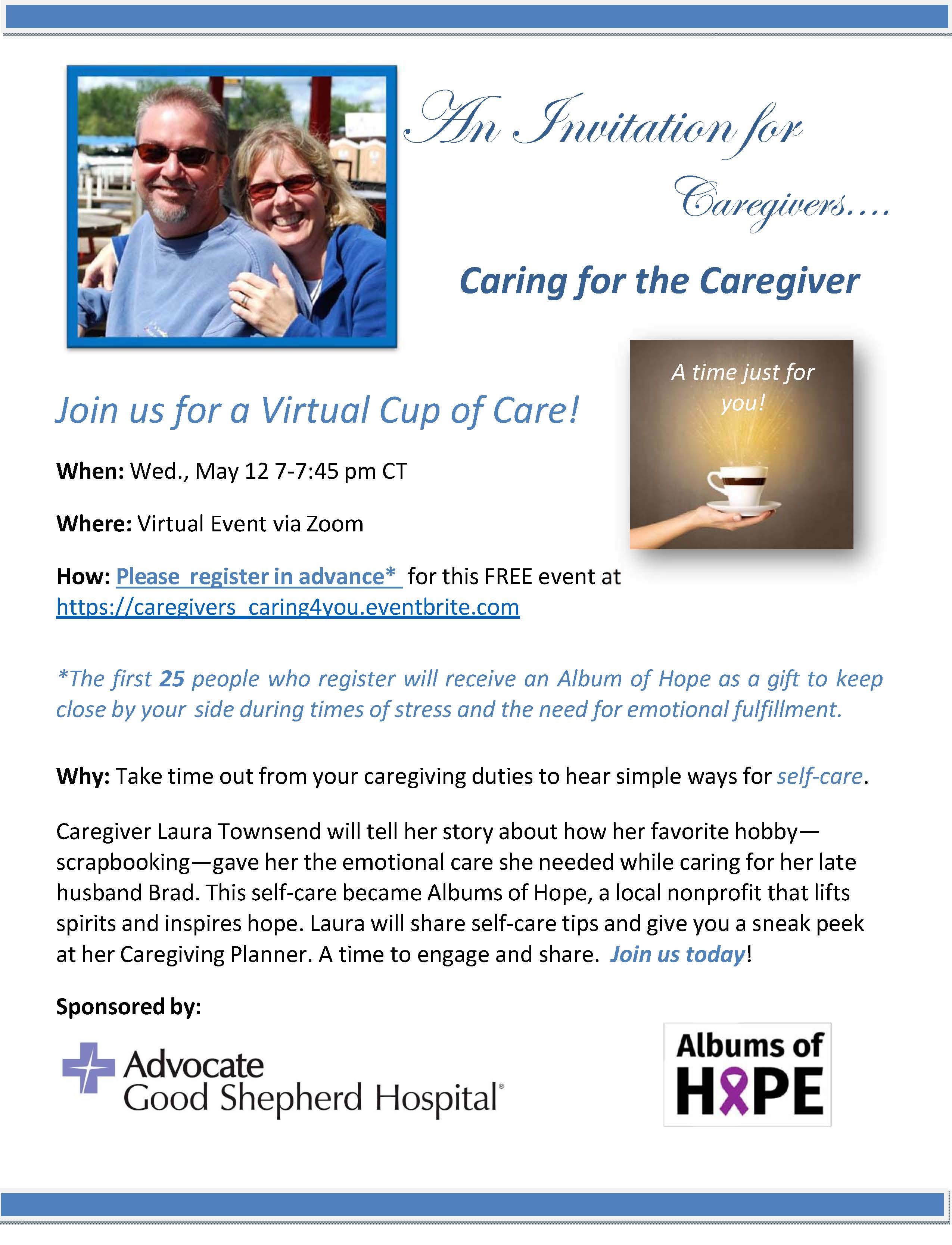 Caregivers caring for you webinar 5 12 2021 flyer final lyzji5