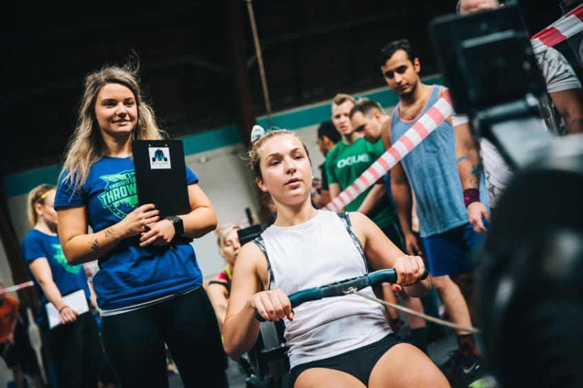 working out at crossfit committed