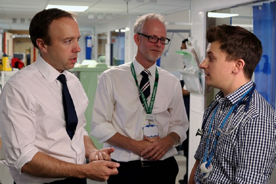 Matt Hancock meets with frontline NHS staff