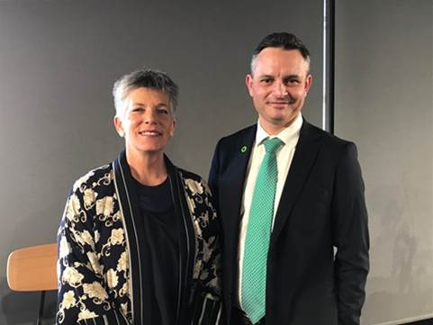 Auckland Councillor Penny Hulse and Climate Change Minister James Shaw