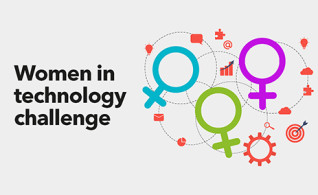 Image thumbnail for challenge entitled Women in technology challenge