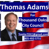 Thomas Adams | Candidate for Thousand Oaks, City Council, 2018 in California (CA) | Crowdpac