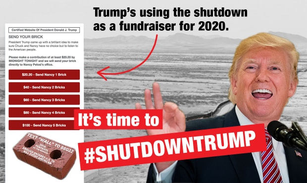 (Graphic from the #ShutdownTrump Crowdpac campaign)
