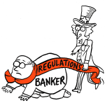 Issues - Banking and Finance - Democratic position cartoon | Crowdpac