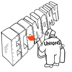 Issues - Unions and Labor - Democratic position cartoon | Crowdpac