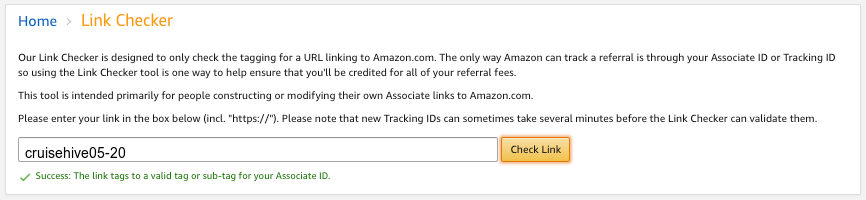 Amazon Affiliate URL Checker