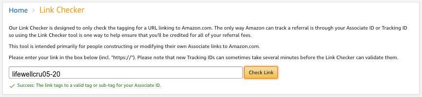 Amazon Affiliate URL Checker