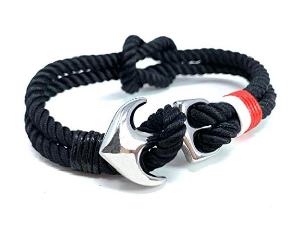 Anchor Bracelet - Black