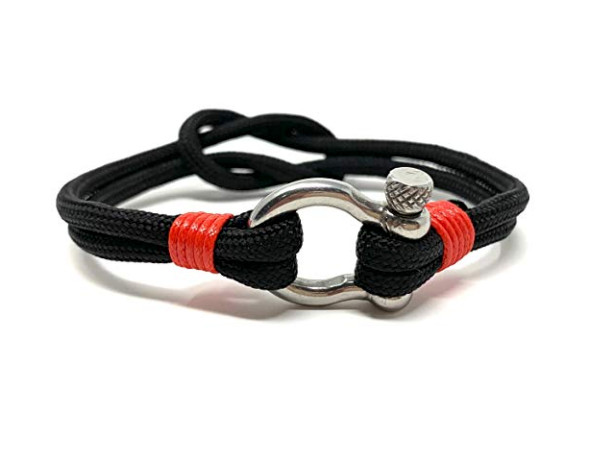 Anchor Bracelet - Shackle Black