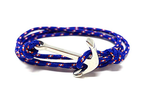 Anchor Bracelet - Paracord Blue