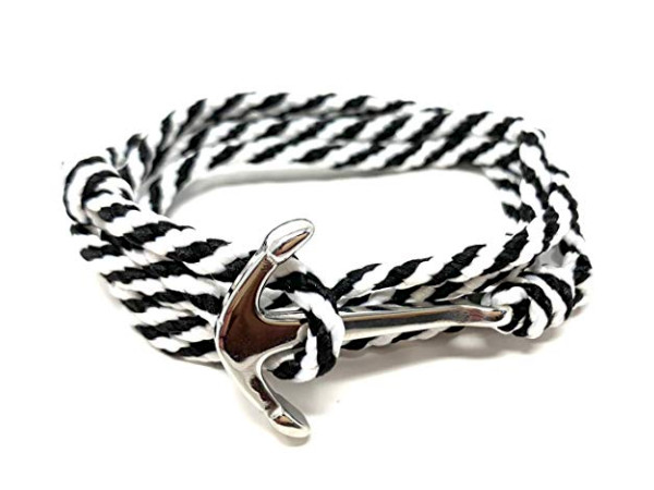 Anchor Bracelet - Paracord White