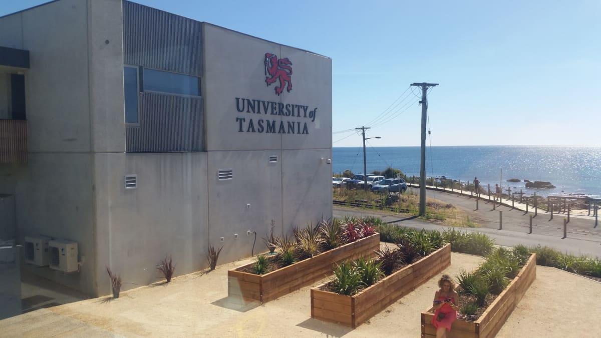 バーニーの港からすぐにビジターセンターがある。その裏には製紙の歴史展示や、タスマニア大学。