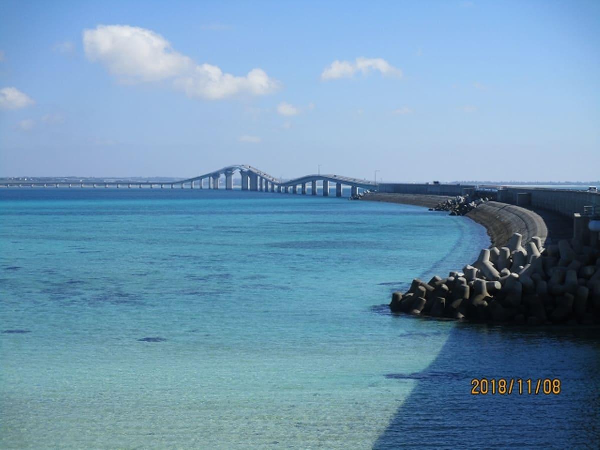 宮古島 伊良部大橋(3540メートル)