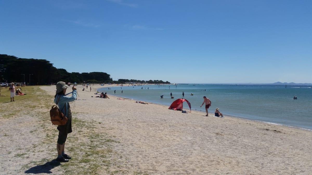 ジーロングのビーチ。