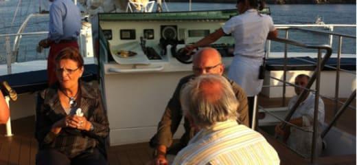 ル・ポナン視察乗船 8/19 メノルカ島マホンに到着