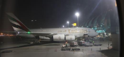 飛行機と船で19日間世界一周の旅⑨エミレーツ航空のエアバスA380・バルセロナ⇒ドバイ編