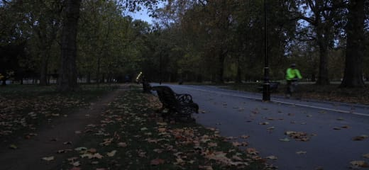 秋の欧州紀行 1 ロンドン、ハイドパークの朝