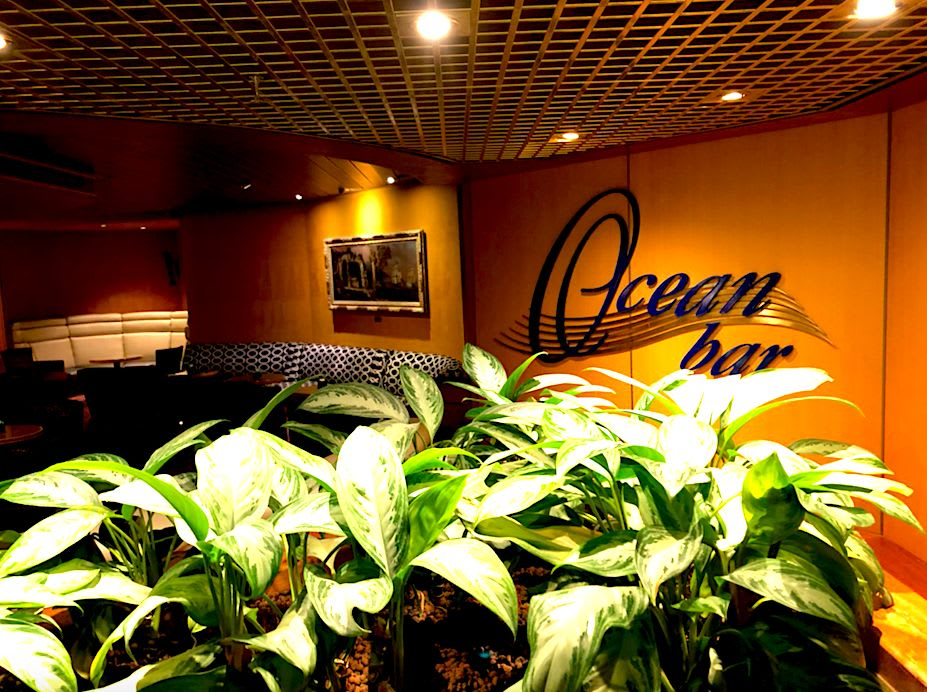 Ocean Barはドアなどはなく開放的。誰にでもドアが開いています。