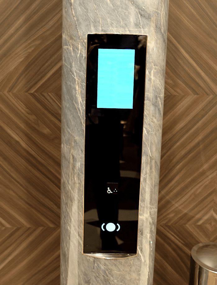 エレベーターはタッチパネル式