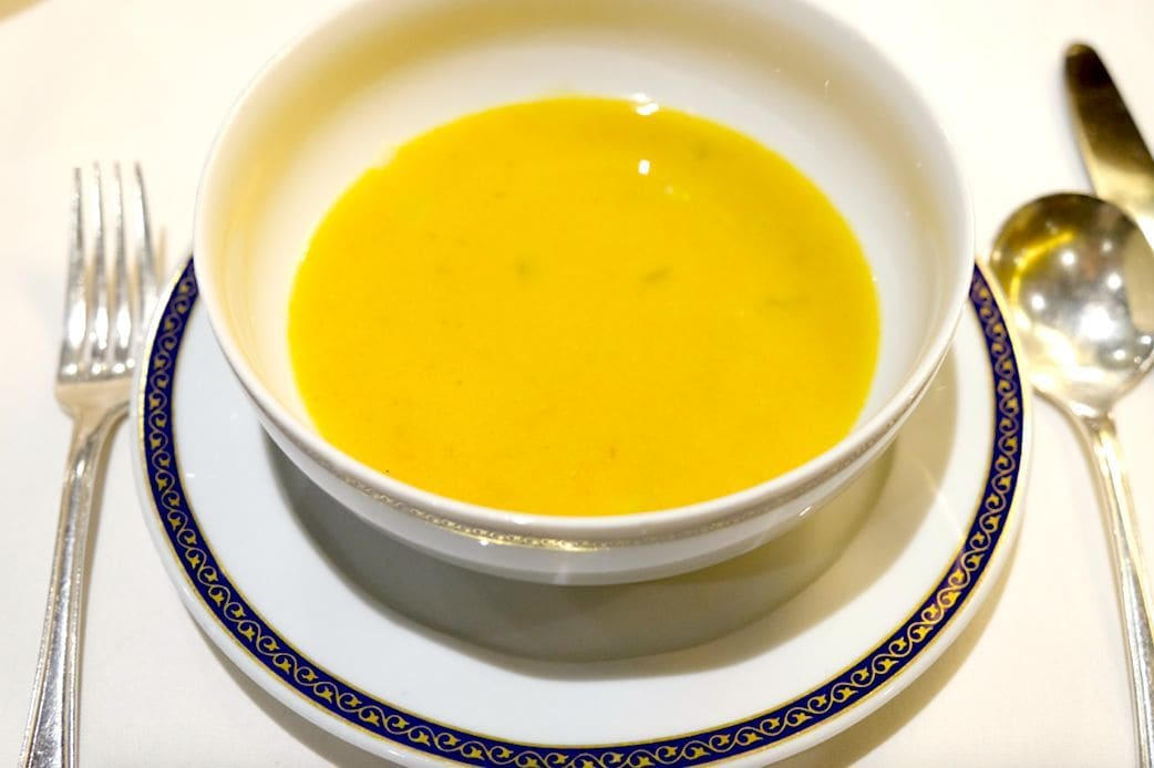 Creamed Artichoke and Heritage Carrot Soup(アーティチョークと人参のスープ)