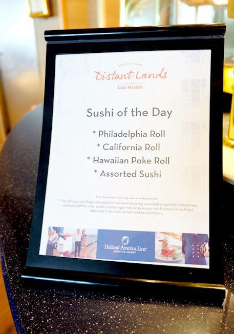 ランチの一番人気は「本日のお寿司」コーナー