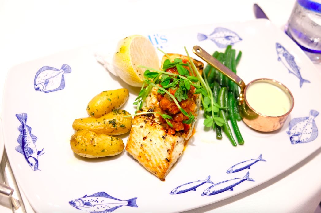 Broiled Fresh Catch of The day(今日のお魚料理)