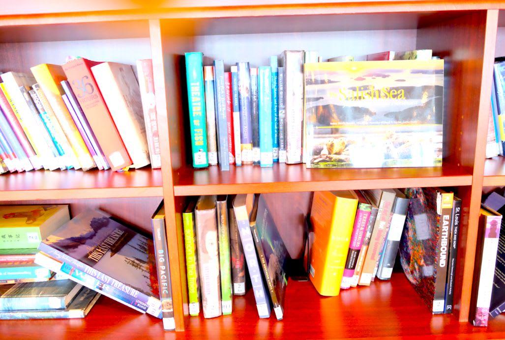 本は種類毎に分けられています