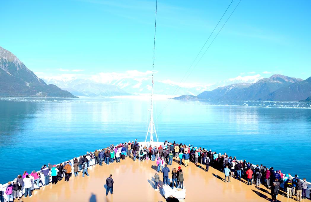 【乗船Day4】ホーランド・アメリカ、客船アムステルダム、ハバード・グレーシャー・クルージング