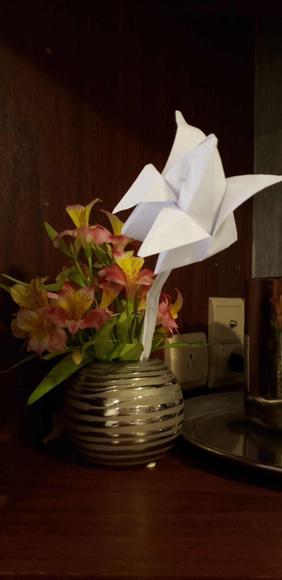 インサイドでも飾られる生花