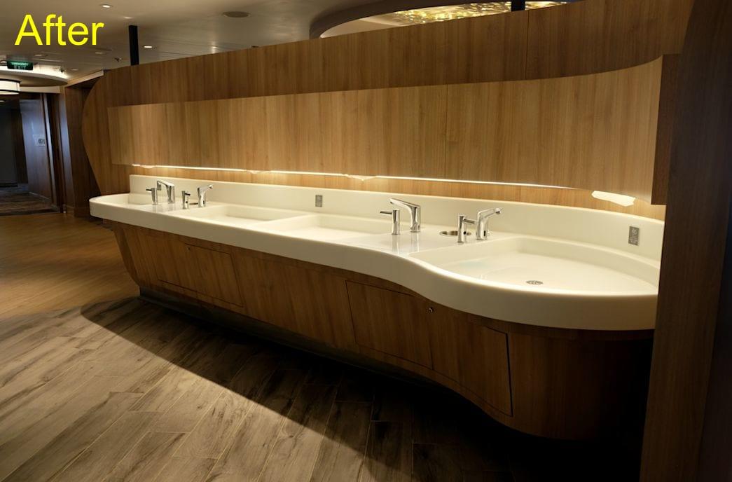 手を洗うスペースも設置