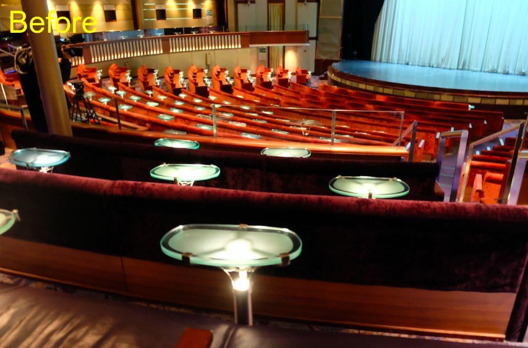 客席は全900席で、どの角度からもショーが見やすい