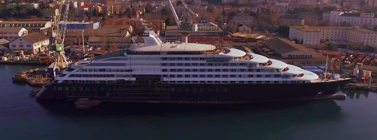 最新客船シー二ック・エクリプスの建造フェーズの映像を公開