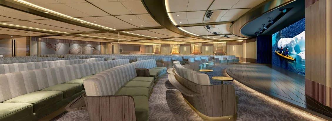 シーボーン、最新探検船の船内パブリック・スペースのイメージを公開