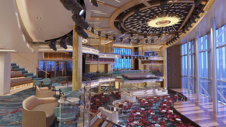 カーニバル、最新客船マルディ・グラの船内デザインを公開