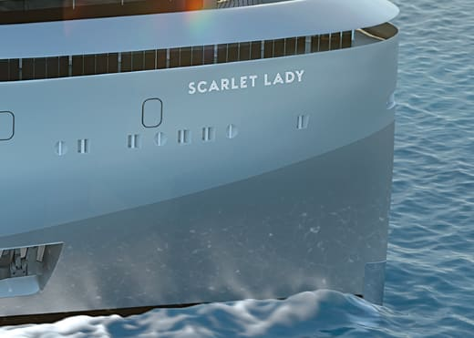 ヴァージン・ヴォヤージュ、最新客船は「スカーレット・レディ」