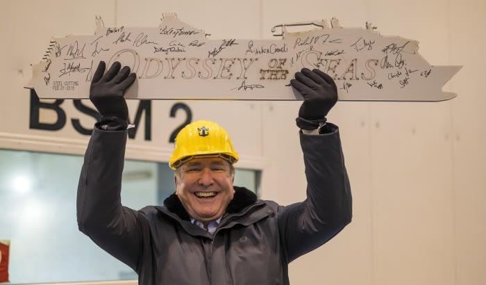 ロイヤル・カリビアン、最新客船オデッセイ・オブ・ザ・シーズの竣工式