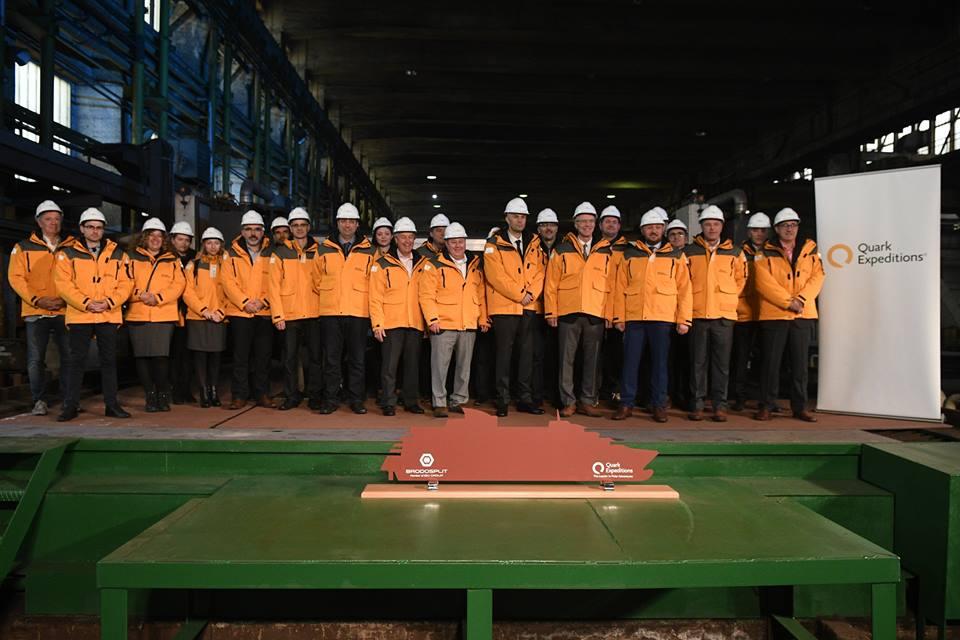 クオーク・エクスペディション、最新客船の竣工式