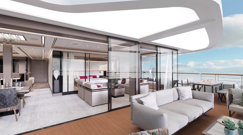 リッツ・カールトン、最新客船のスイート客室デザインを公開