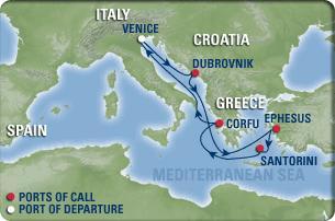 ベネチア発着のアドリア海&エーゲカーコース