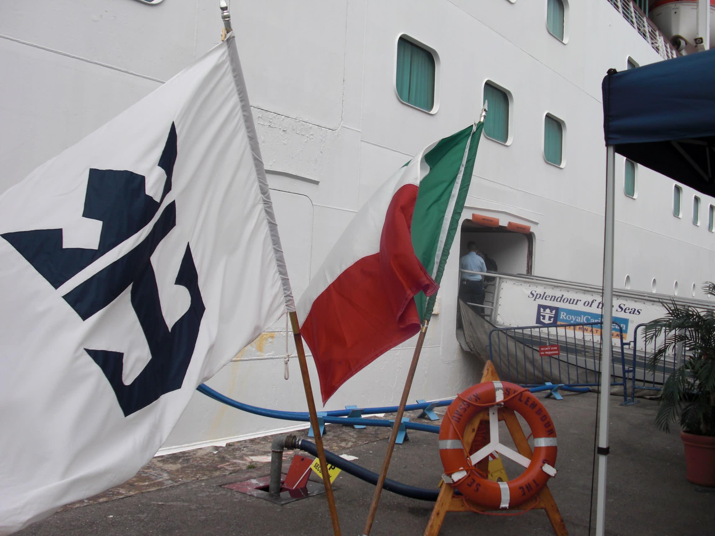 2009年当時は国旗が掲げられていました